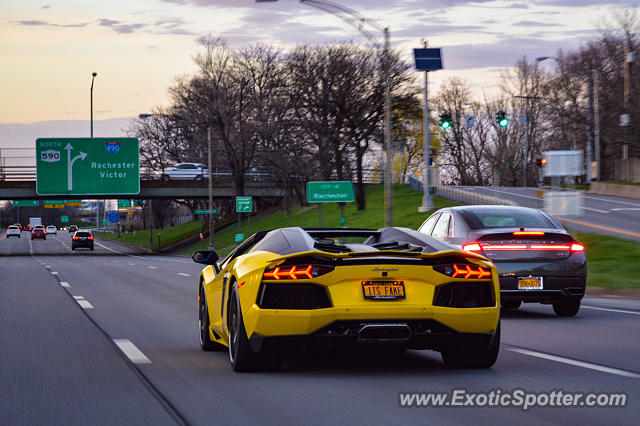 Lamborghini Aventador spotted in Rochester, New York