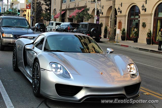 Porsche 918 Spyder spotted in Beverly Hills, California