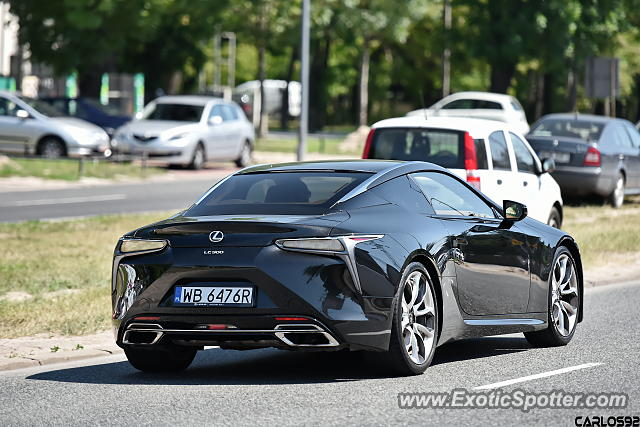 Lexus LC 500 spotted in Warsaw, Poland