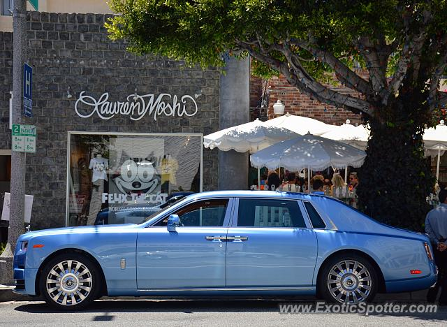 Rolls-Royce Phantom spotted in West Hollywood, California