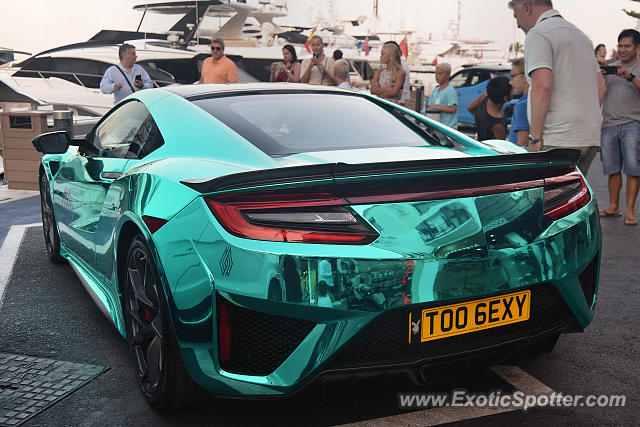Acura NSX spotted in Puerto Banus, Spain