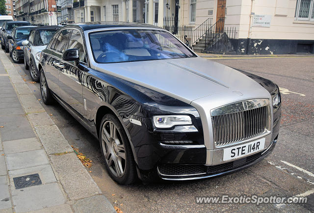 Rolls-Royce Ghost spotted in London, United Kingdom