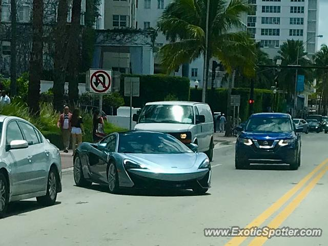 Mclaren 570S spotted in Miami Beach, Florida