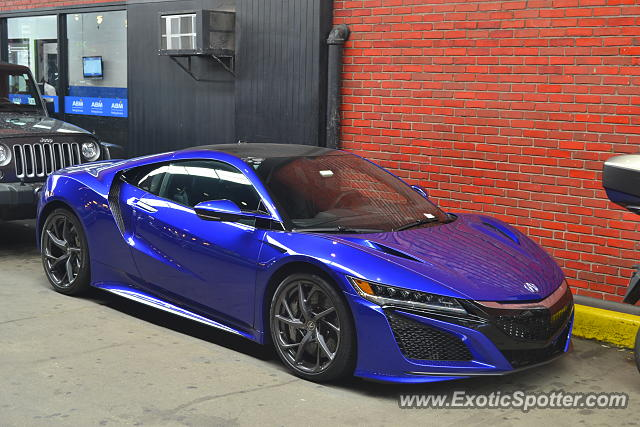 Acura NSX spotted in Manhattan, New York