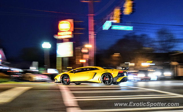 Lamborghini Aventador spotted in Charlotte, North Carolina