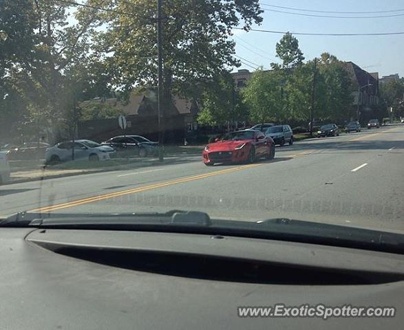 Jaguar F-Type spotted in Morris Town, New Jersey