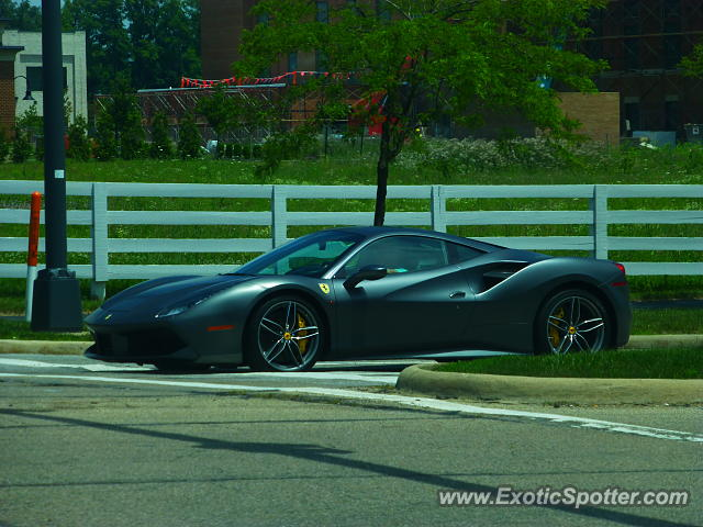 Ferrari 488 GTB spotted in COLUMBUS, United States