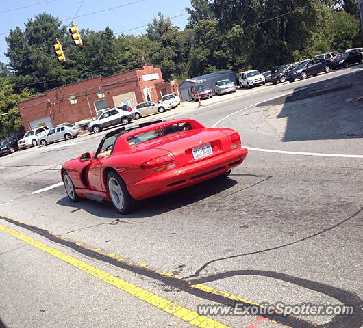 Dodge Viper spotted in Westfield, New Jersey