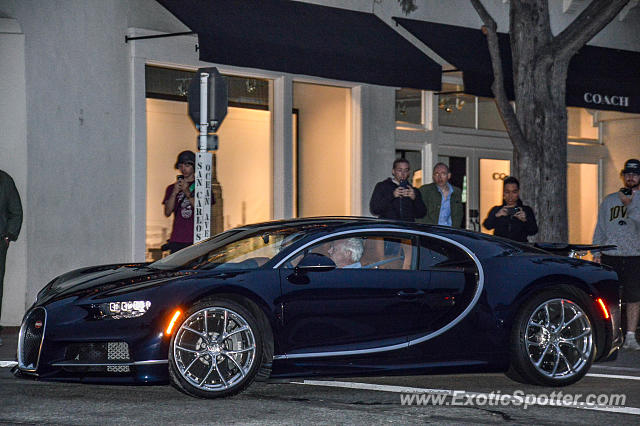 Bugatti Chiron spotted in Carmel, California