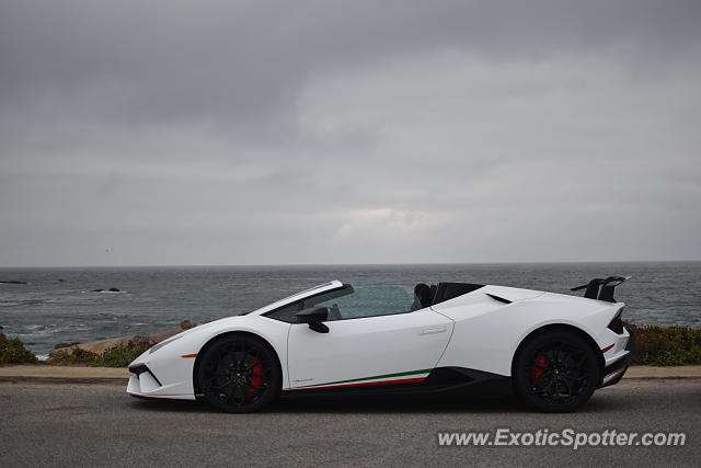 Lamborghini Huracan spotted in Pebble beach, California