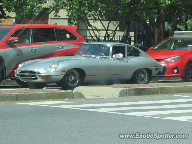 Jaguar E-Type spotted in Washington DC, Maryland