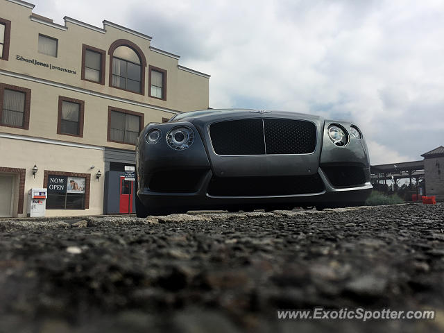 Bentley Continental spotted in Westfield, New Jersey