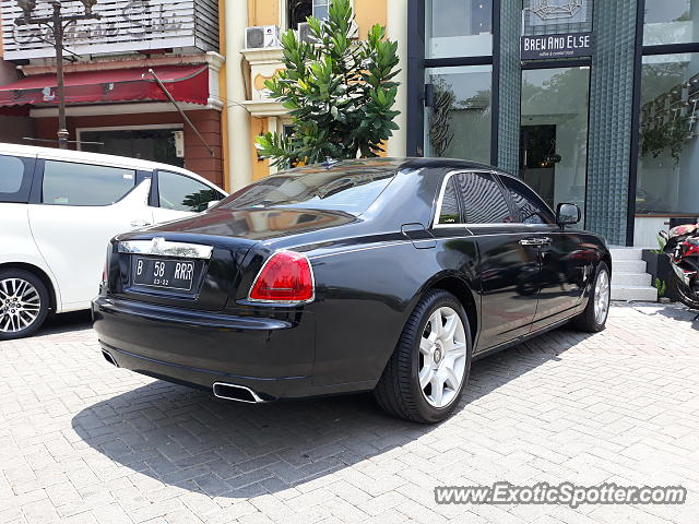 Rolls-Royce Ghost spotted in Jakarta, Indonesia