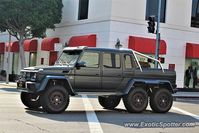 Mercedes 6x6 spotted in Beverly Hills, California