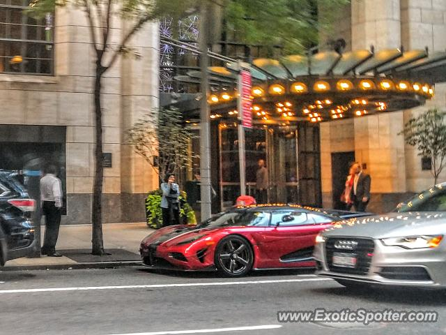 Koenigsegg Agera R spotted in Manhattan, New York