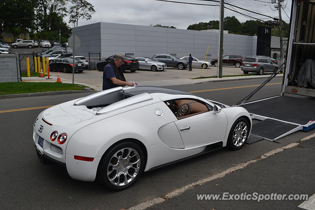 Bugatti Veyron spotted in Greenwich, Connecticut