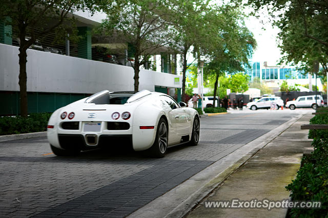 Bugatti Veyron spotted in Miami Beach, Florida