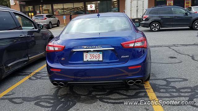Maserati Ghibli spotted in Worcester, Massachusetts