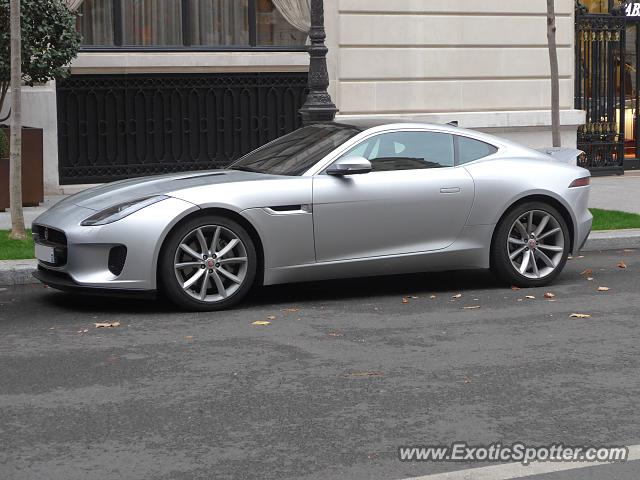 Jaguar F-Type spotted in Paris, France