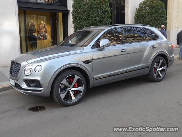 Bentley Bentayga spotted in Paris, France
