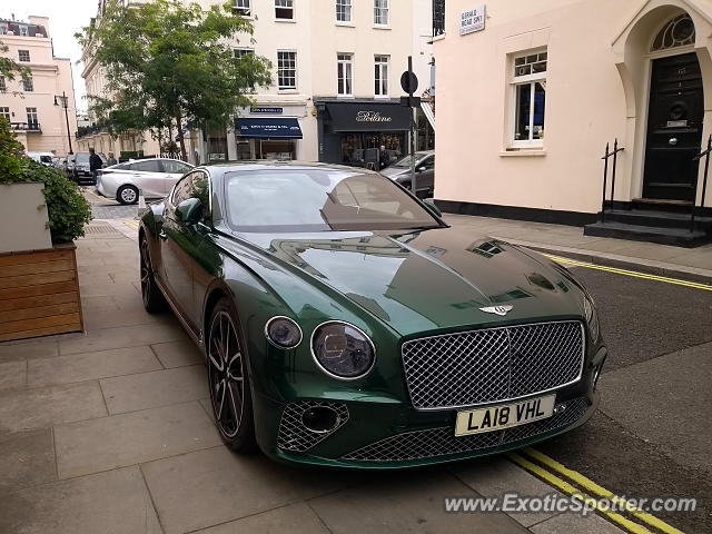 Bentley Continental spotted in London, United Kingdom