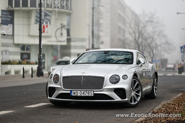 Bentley Continental spotted in Warsaw, Poland