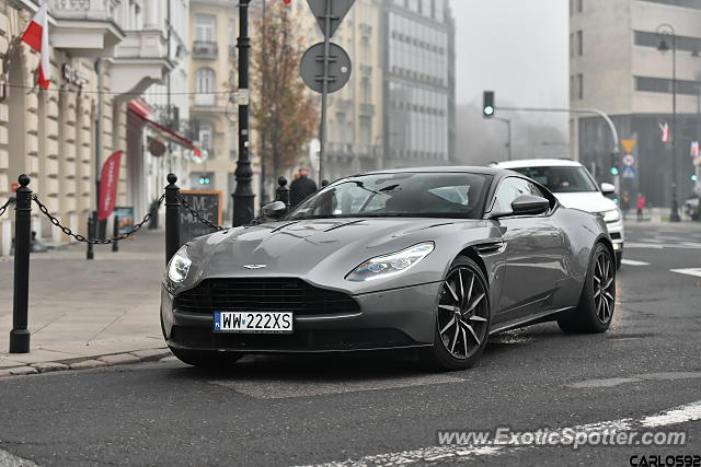 Aston Martin DB11 spotted in Warsaw, Poland