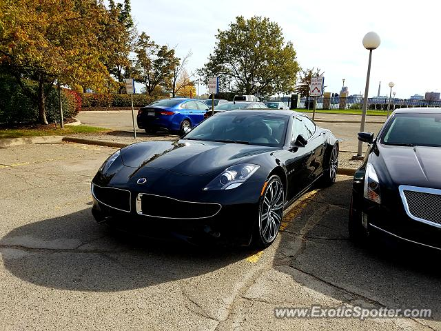 Fisker Karma spotted in Detroit, Michigan