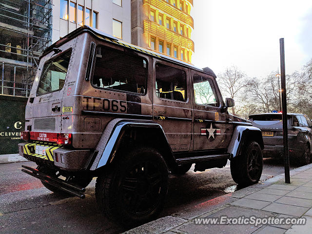 Mercedes 4x4 Squared spotted in London, United Kingdom