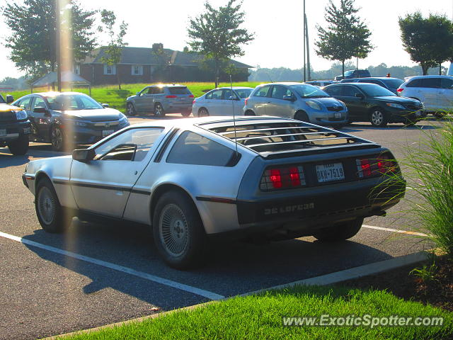 DeLorean DMC-12 spotted in Maple lawn, Maryland