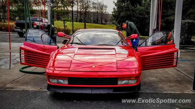Ferrari Testarossa spotted in Bedminster, New Jersey