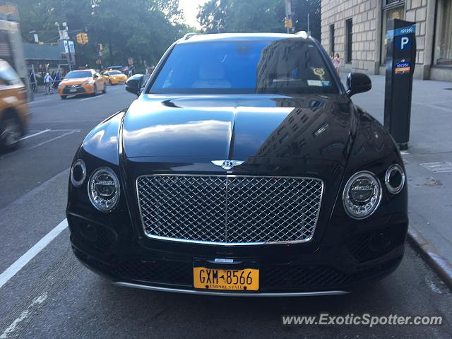 Bentley Bentayga spotted in New York City, New York