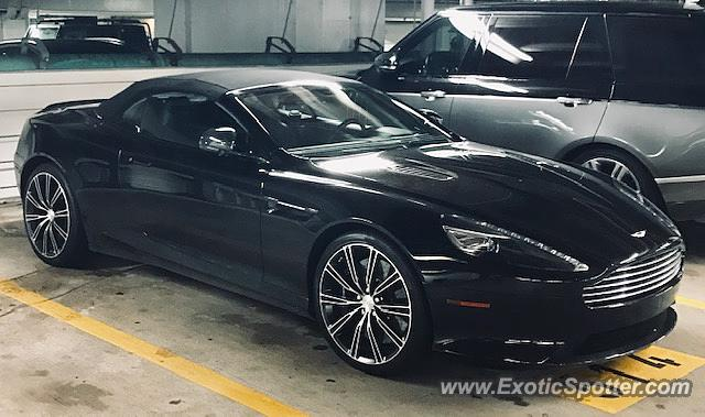 Aston Martin DB9 spotted in Houston, Texas