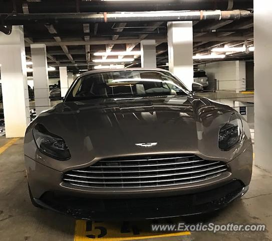Aston Martin DB11 spotted in Houston, Texas