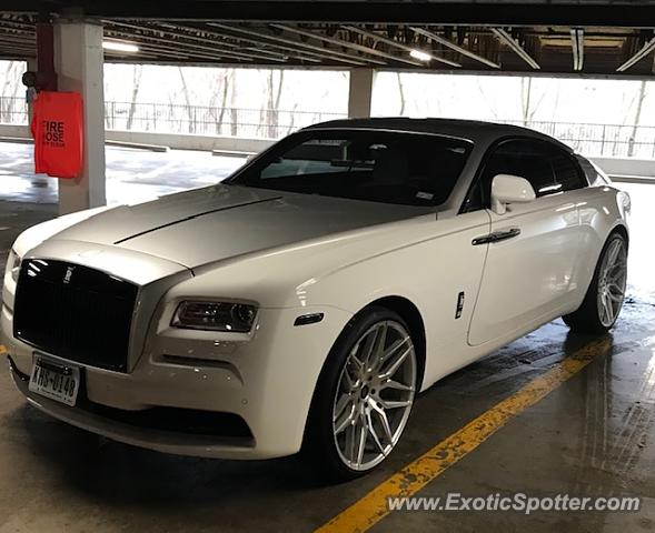 Rolls-Royce Wraith spotted in Houston, Texas