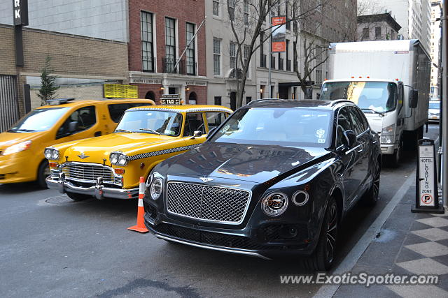 Bentley Bentayga spotted in Manhattan, New York