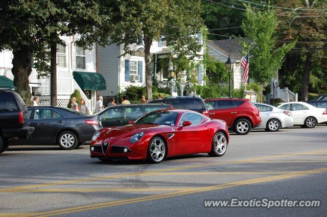 Alfa Romeo 8C spotted in Sag Harbor, New York