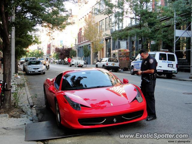 Ferrari 458 Italia Spotted In Manhattan New York On 08 15 2010 Photo 2