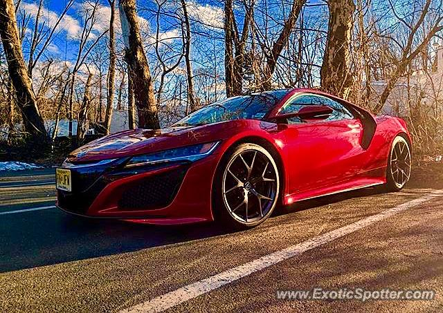Acura NSX spotted in Scotch Plains, New Jersey