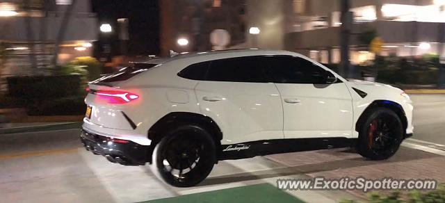 Lamborghini Urus spotted in South beach, Florida