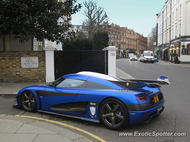 Koenigsegg One:1 spotted in London, United Kingdom