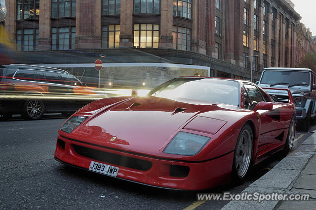 Ferrari F40 spotted in London, United Kingdom