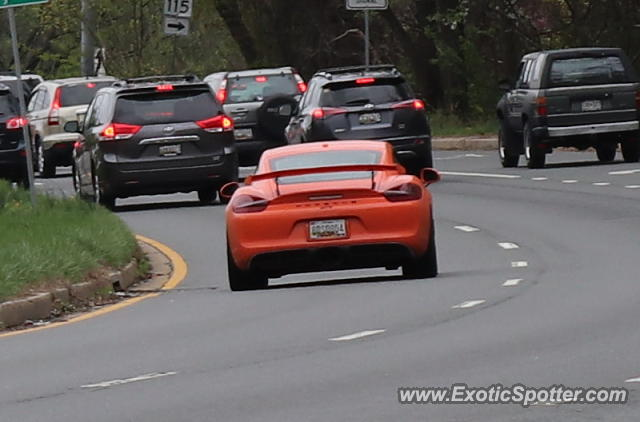 Porsche Cayman GT4 spotted in Rockville, Maryland