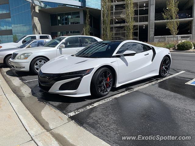 Acura NSX spotted in Cottonwood Hts., Utah