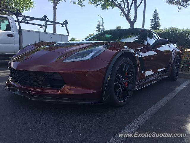 Chevrolet Corvette Z06 spotted in Brentwood, California