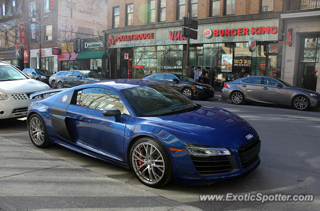 Audi R8 spotted in Montreal, Canada