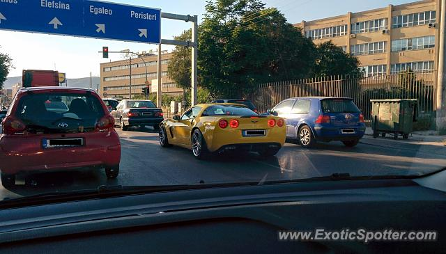 Chevrolet Corvette Z06 spotted in Athens, Greece