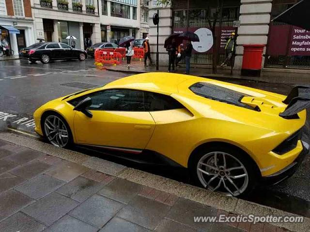 Lamborghini Huracan spotted in London, United Kingdom