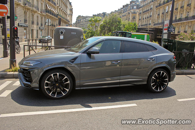 Lamborghini Urus spotted in Paris, France