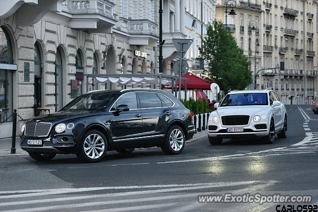 Bentley Bentayga spotted in Warsaw, Poland